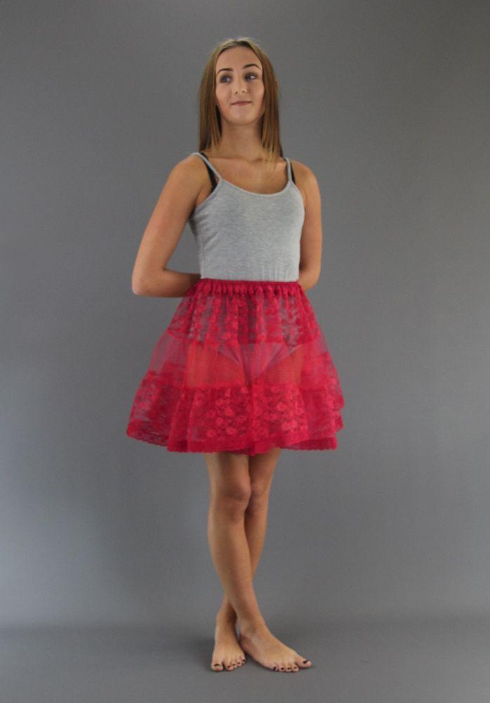 Cerise-Lace-Petticoat