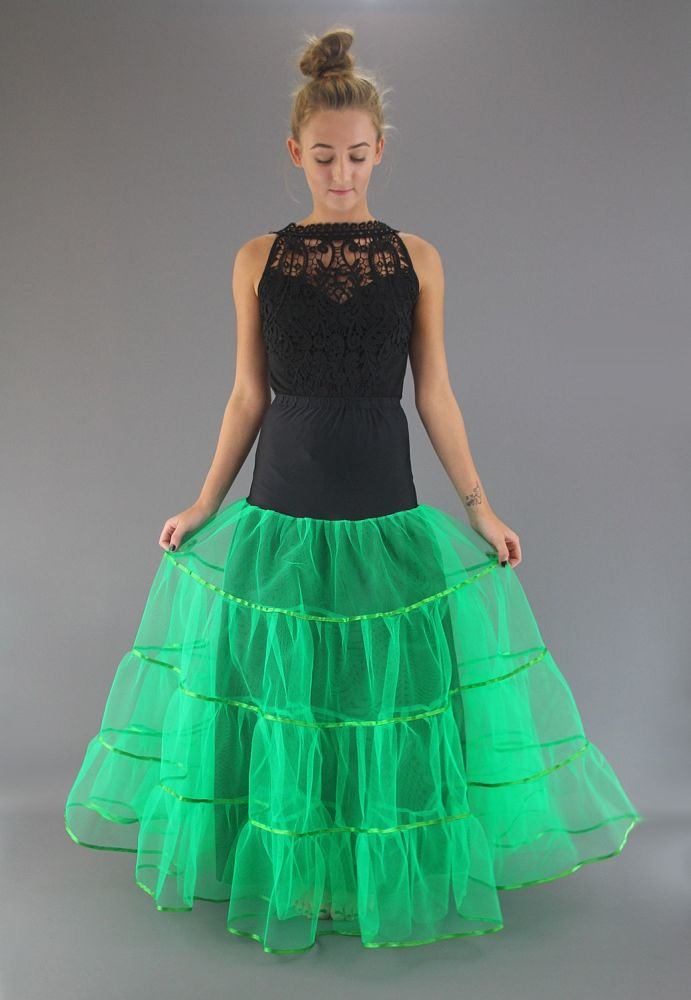Full Length Green Petticoat