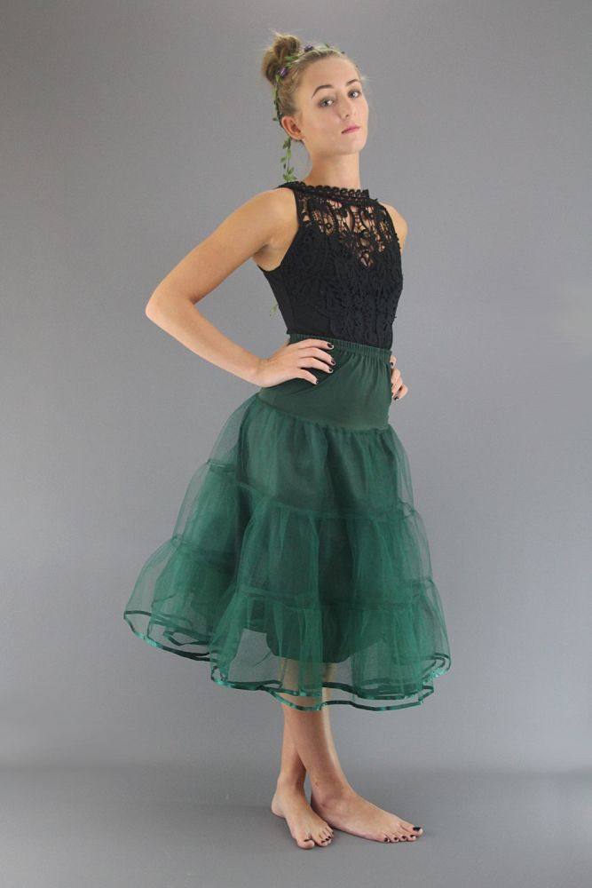 Bottle-Green-Tiered-Petticoat