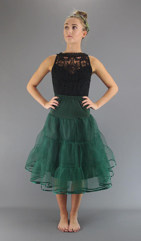 Bottle Green Petticoat