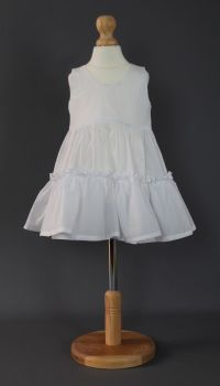 Baby Cotton Petticoat - Plain White