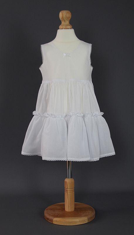 <!-- 002 -->Baby Toddler Full Length Slip - Lace Edge