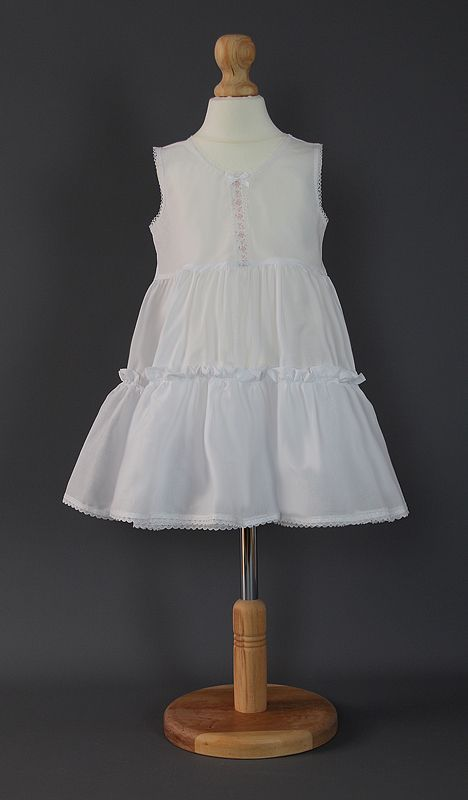 Baby Cotton Petticoat - Flower Ribbon