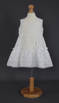 Baby Embroidered Cotton Petticoat - White