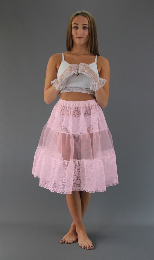 Baby-Pink-Lace Petticoat