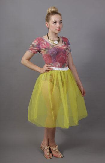 Primrose Yellow Net Underskirt