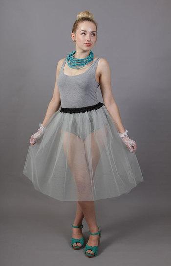Silver Grey Net Petticoat