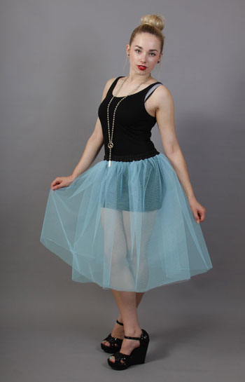 Pale Powder Blue Net Petticoat