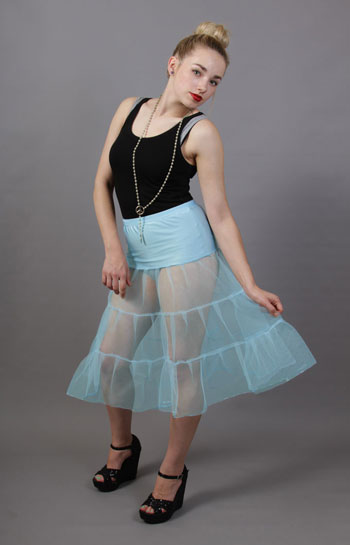 C96 Pale Powder Blue Tiered Net Underskirt