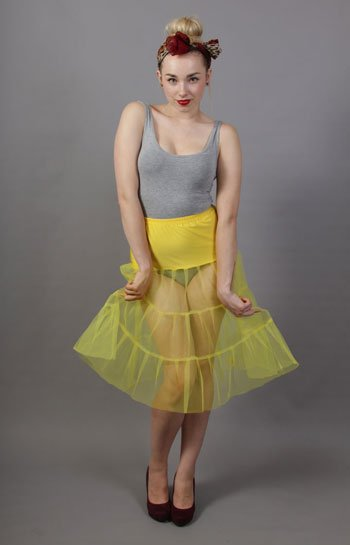 C7 Primrose Yellow Tiered Net Underskirt