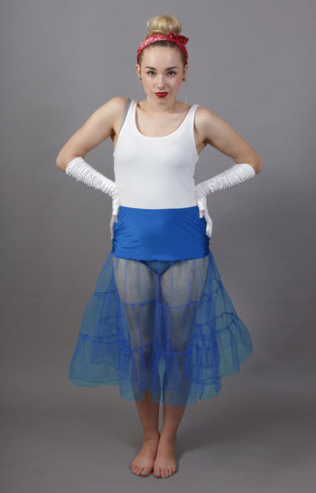 C5 Royal Blue Tiered Net Underskirt
