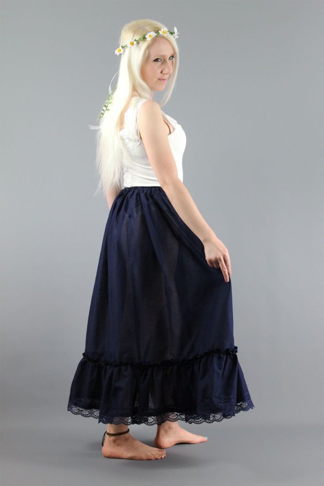 Navy-Lace-Cotton-Lawn-Skirt