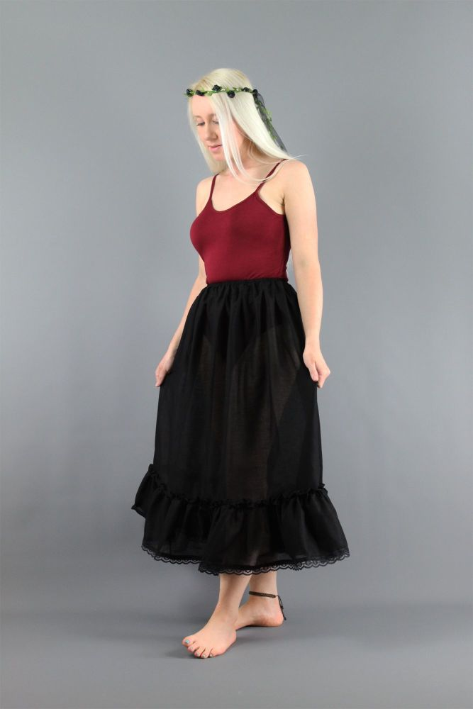 Black-Cotton-Lawn-Petticoat-With-Lace
