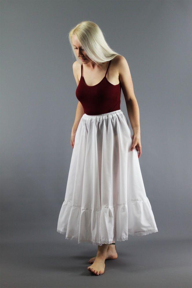 Full-Circle-White-Cotton-Skirt