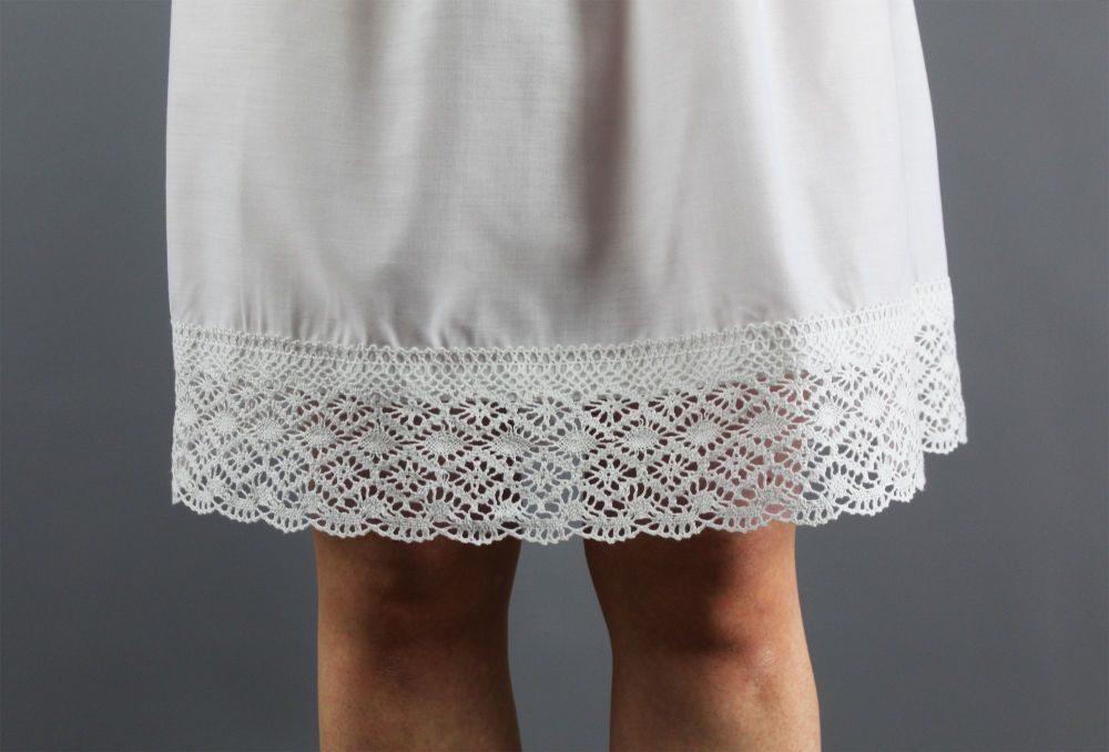 Hemmed-With-White-Crochet-Lace