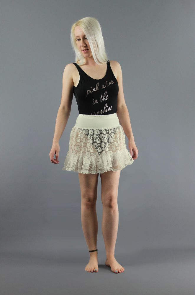 Ivory-Mini-Lace-Skirt