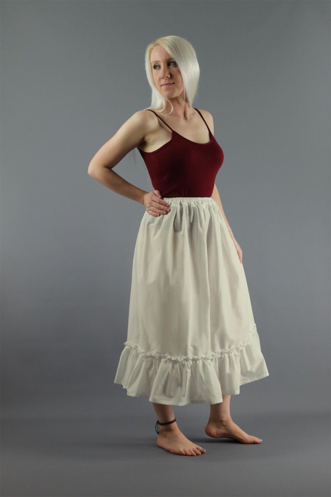 Ivory-Cotton-Lawn-Plain-Skirt