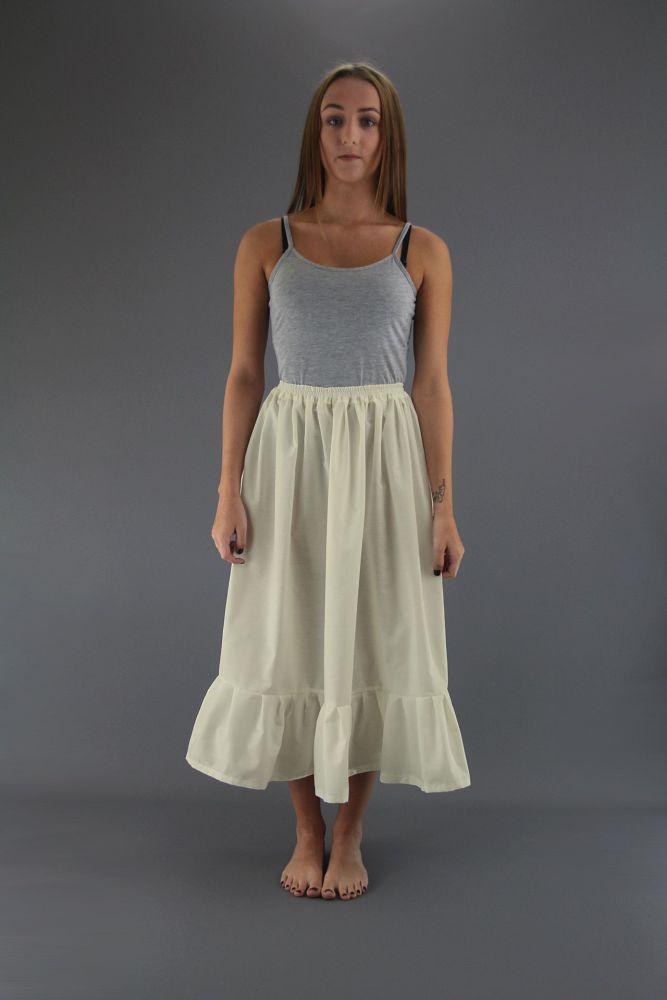 Ivory-Plain-Cotton-Petticoat