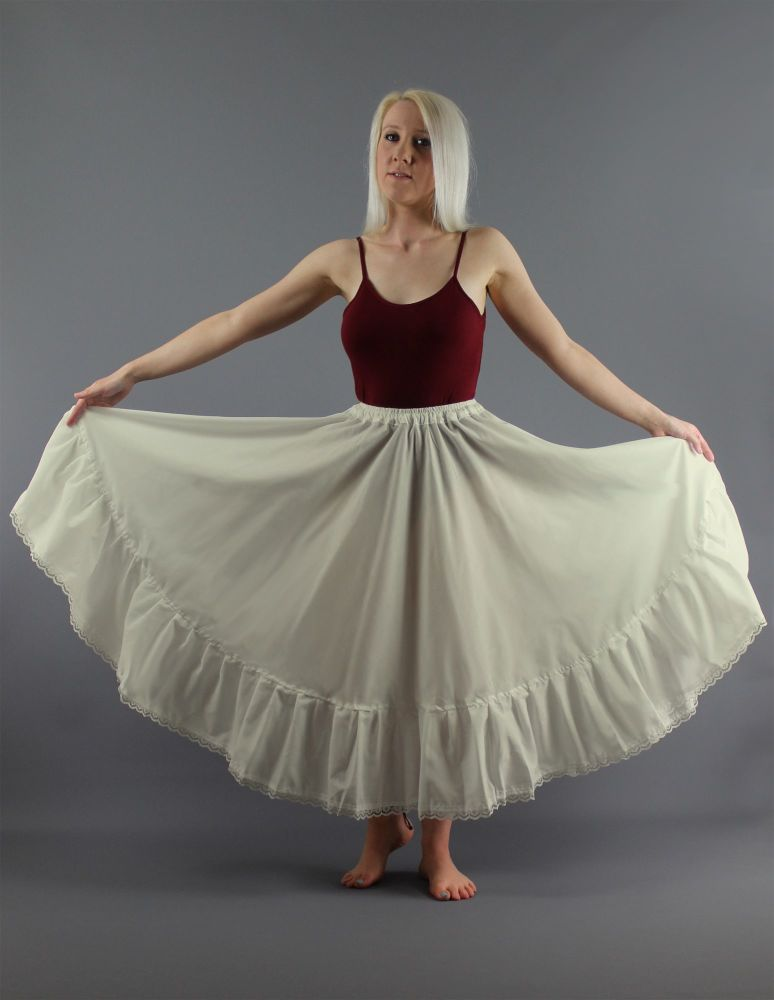Ivory-Full-Circle-Skirt