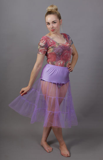 C92 Lilac Tiered Net Underskirt