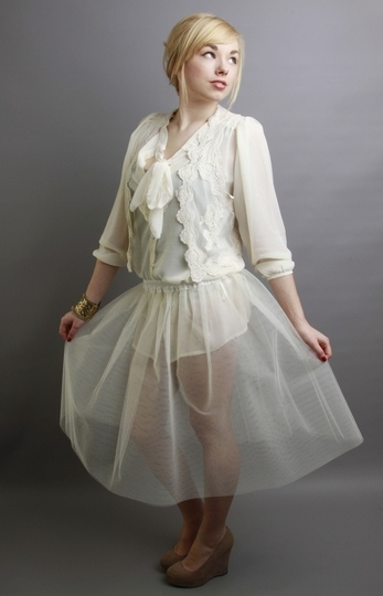Petticoat Underskirt Ivory