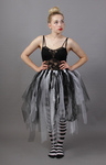 Ghost Bride Black & White Net Lace Fairy Tutu Skirt