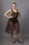 Coffee Brown Net Petticoat