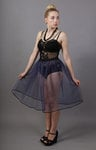 Navy Blue Net Skirt