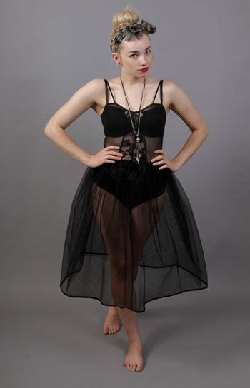 Black Petticoat Underskirt