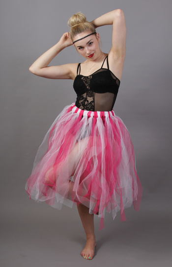 Pink & White Fairy Punk Skirt