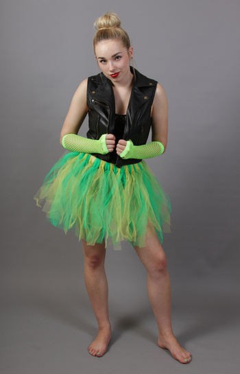 Green & Yellow Fairy Punk Tutu