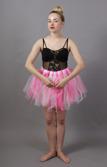 Pink & White Fairy Punk Tutu