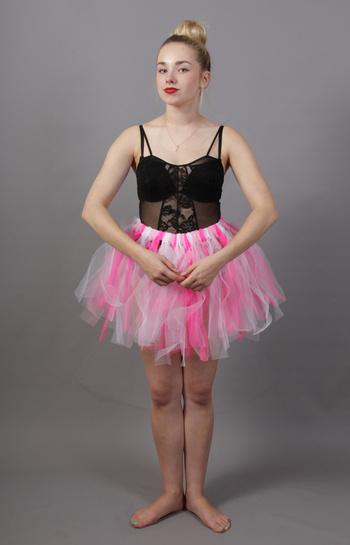 Pink & White Fairy Punk Tutu