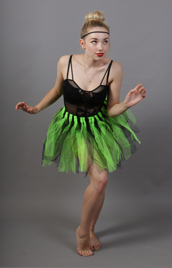 Green & Black Fairy Punk Tutu