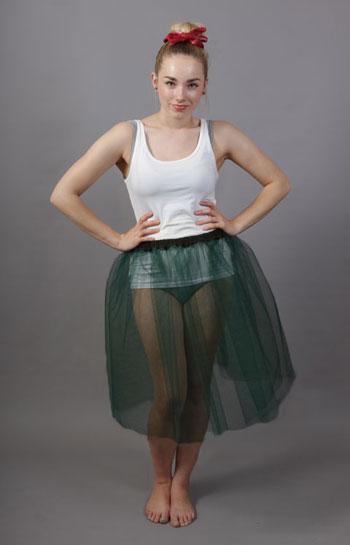 Bottle Green Net Petticoat