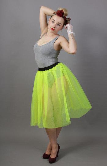 Flo Neon Yellow Net Petticoat