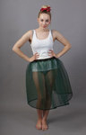 Bottle Green Net Petticoat
