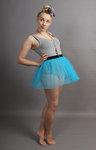 Short Turquoise Net Skirt