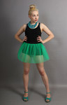 Short Jade Green Net Skirt