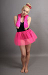 Short Flo Neon Pink Net Skirt