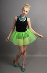 Short Flo Neon Green Net Skirt