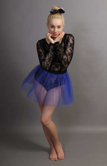 E5 Short Royal Blue Net Skirt