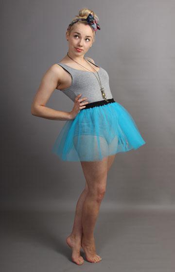 E8 Short Turquoise Net Skirt