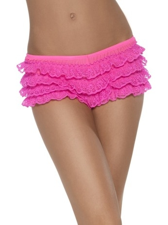 Hot Pink Ruffle Lace Panties