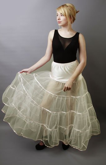 Full Length Ivory Bridal Petticoat