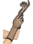 Black Lace Spotted Gloves