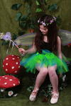 Childrens Shorter Length Multi-Coloured Raggy Fairy Skirt