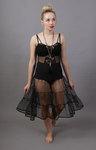 Black Petticoat Tiered