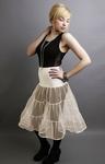 Ivory Petticoat Tiered