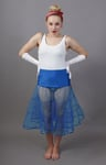 Royal Blue Petticoat Tiered